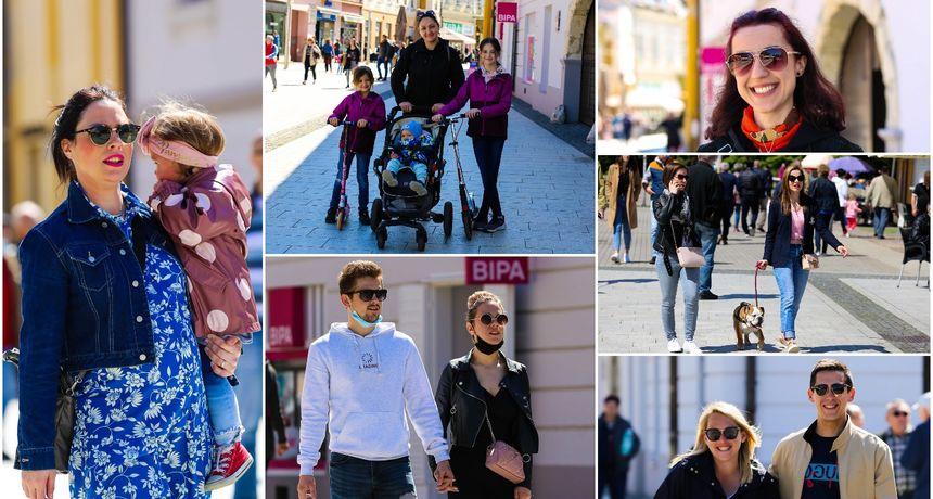 KLIKOM PO ČAKOVCU Napokon sunce! Brojni građani uživali u centru Čakovca