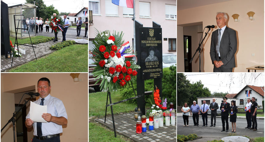 FOTO Obilježen Dan Kuršanca: Prisjetili se Branka Kosa, mještanina poginulog u Domovinskom ratu