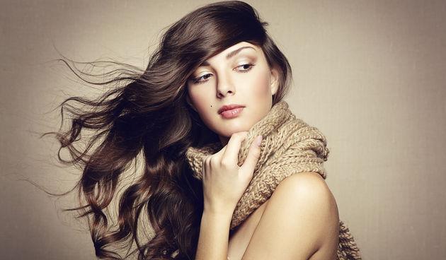 djevojka, kosa, zima