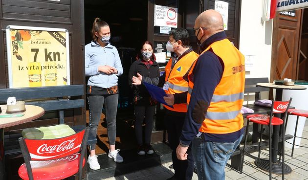 civilna zaštita kontroal kafića