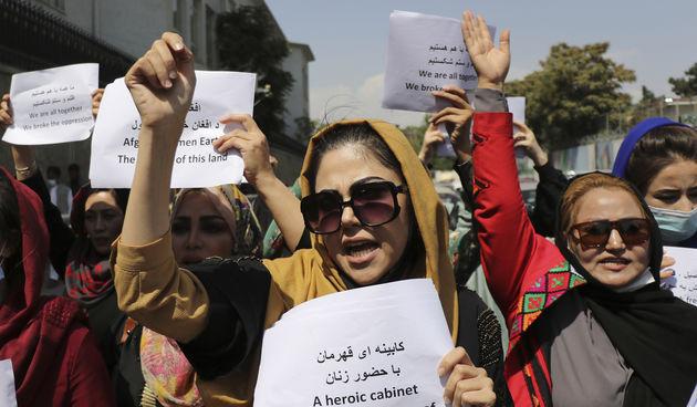 Afganistan, žene, prosvjed
