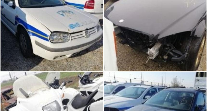 MUP organizira javnu dražbu rabljenih vozila: Početna cijena 600 kuna, ali neka nemaju motor, karambolirana su....