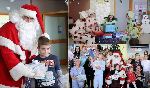 Djed Mraz predstavom i poklonima razveselio mališane s dječjeg odjela ŽB Čakovec