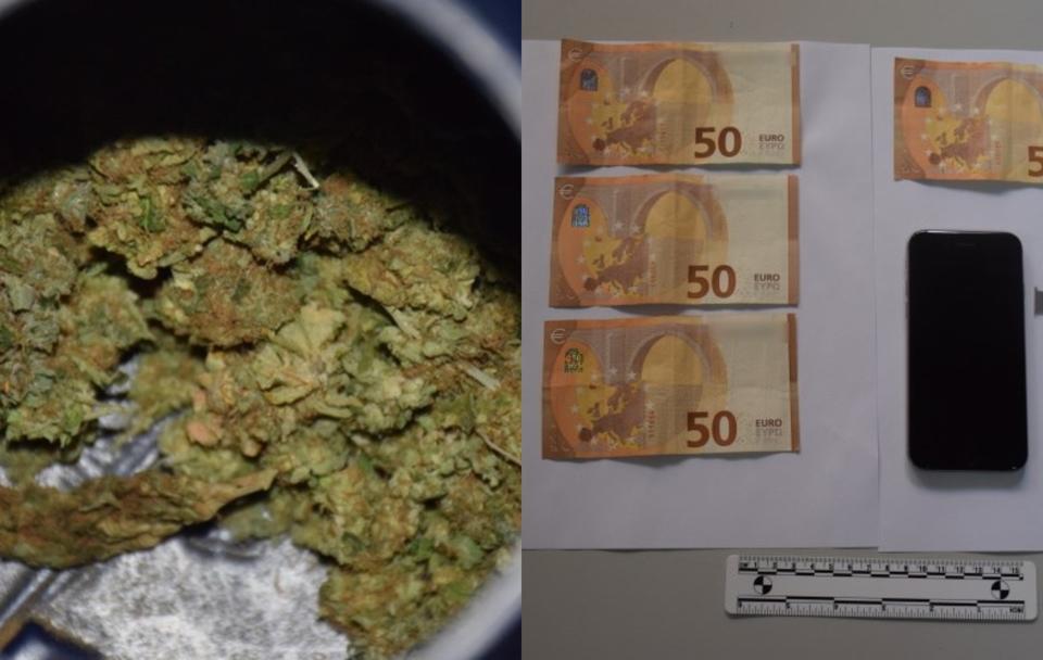 U automobilu skrivao 1,7 kilograma marihuane