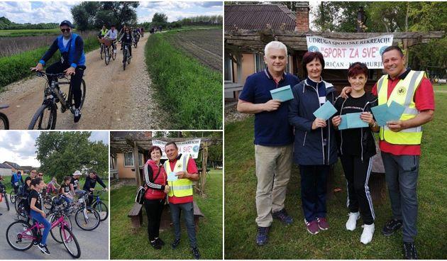 FOTO Biciklom od Gorčkih tumula do izletišta Zelengaj: Rutu od 11 km prošli su svi bez problema!