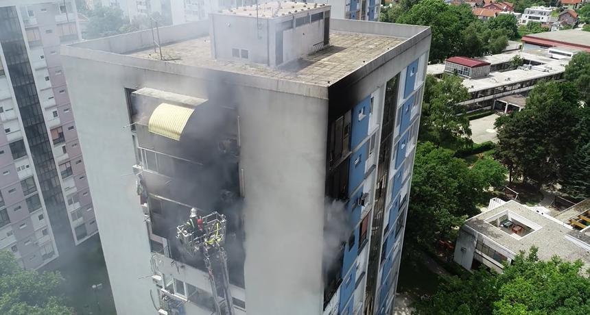 Pogledajte snimku dronom požara zgrade u Trnskom: 'Vatrogasci su krenuli u roku od 60 sekundi...'