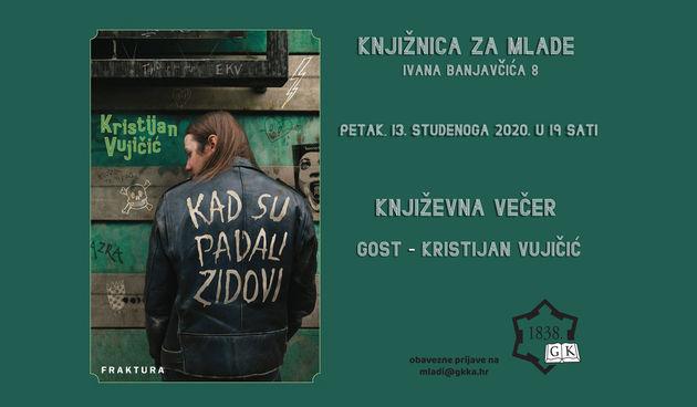 U petak u 19 sati u Knjižnici za mlade predstavljanje knjige Kristijana Vujičića