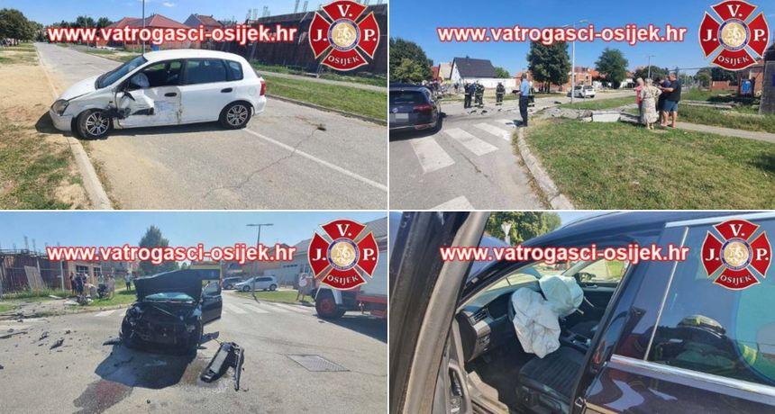 Teška prometna nesreća na Uskim njivama: Vatrogasci izvlačili vozača pomoću daske za fiksiranje