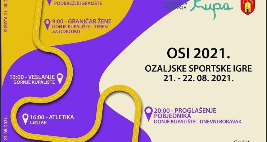 Sportski vikend u Ozlju - na inicijativu Savjeta mladih vraćaju se ozaljske sportske igre, sudjelovat će 13 ekipa u 5 disciplina