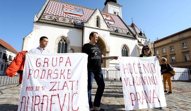 Na Markovom trgu održan prosvjed pod nazivom Šum u eteru protiv mjera Kriznog stožera