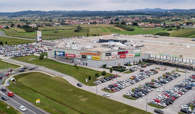 Trgovački centar Lumini, Lumini iz zraka