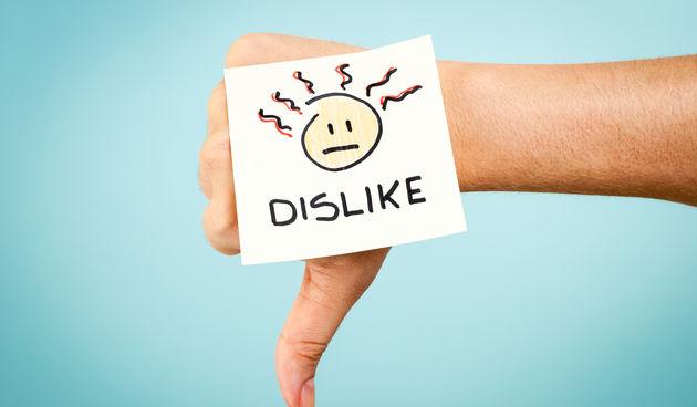 Dislike, Facebook