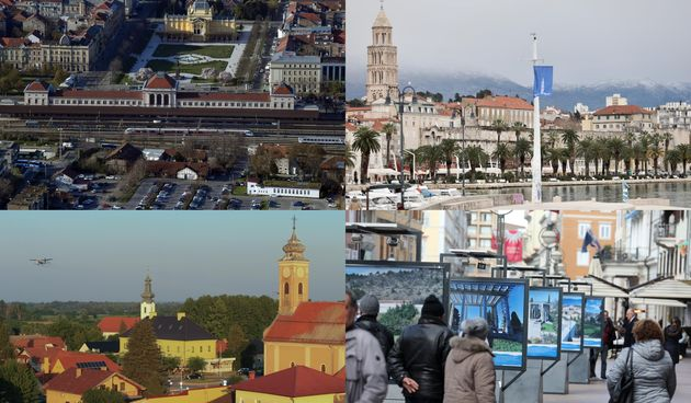 Zagreb, Split, Osijek, Rijeka
