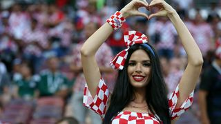 Navijačica reprezentacije Hrvatske
