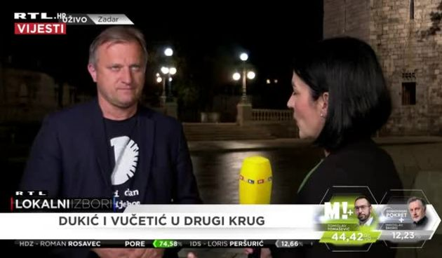 Kandidat za gradonačelnika Zadra Branko Dukić o prvim rezultatima (thumbnail)
