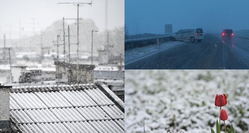 FOTO Stigla hladna fronta! U Zagrebu pada snijeg, iz HAK-a poručuju: 'Ne krećite na put bez zimske opreme'