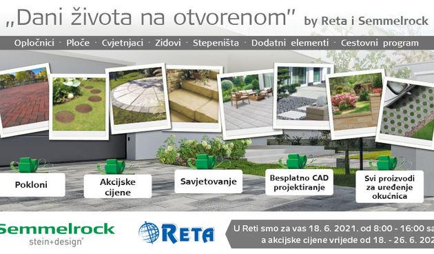 Novo u Reti! Dani života na otvorenom - akcija na Semmelrock proizvode od 18. do 26. lipnja