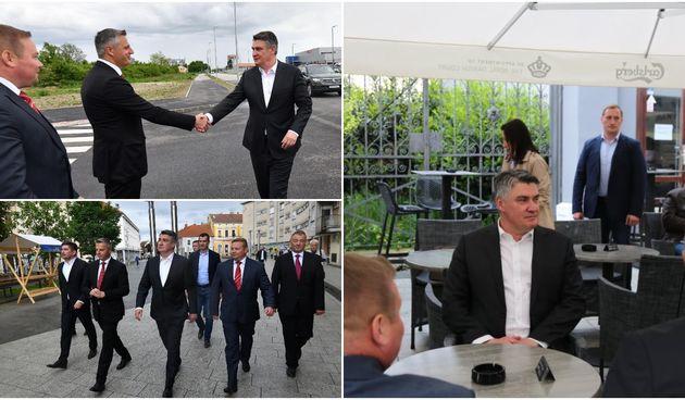 VIDEO I FOTO Predsjednik u Čakovcu obišao Gospodarsku zonu Istok i popio kavu s građanima