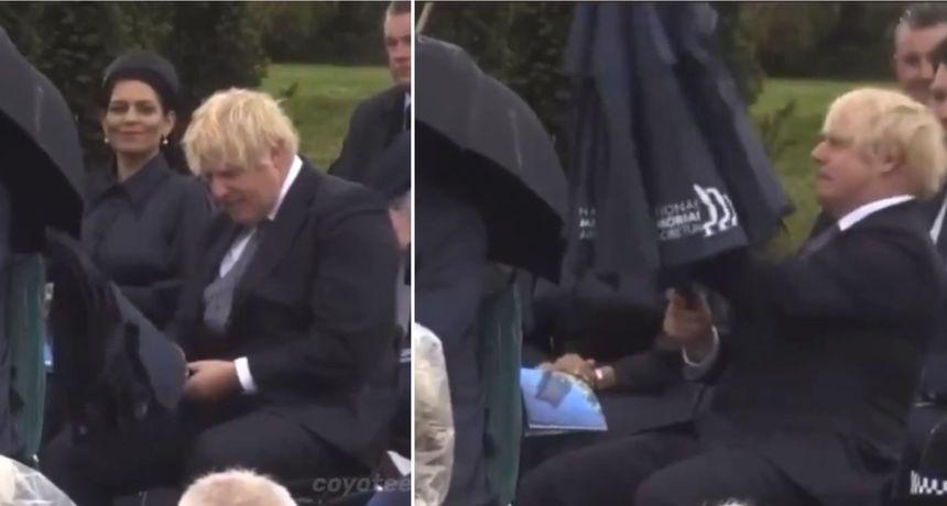 VIDEO Borbu Johnsona s kišobranom svi razumijemo, pogotovo ako je upitne kvalitete