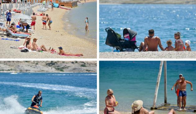 Novalja, more, plaža, turisti
