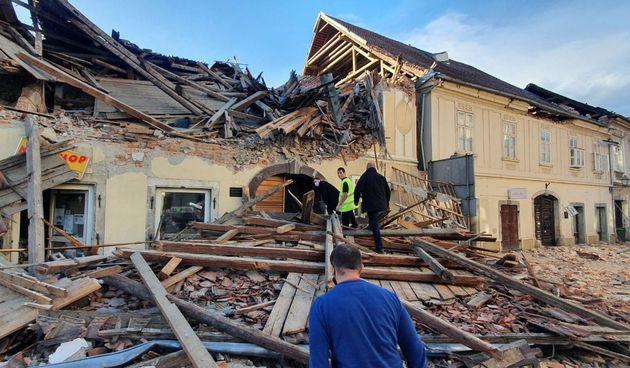 FOTO GALERIJA Razorni potres u Petrinji - 29. prosinac 2020.