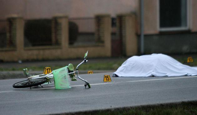 Prometna nesreća, bicikl, ilustracija