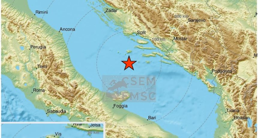 Potres od 3,2 po Richteru u Jadranskom moru