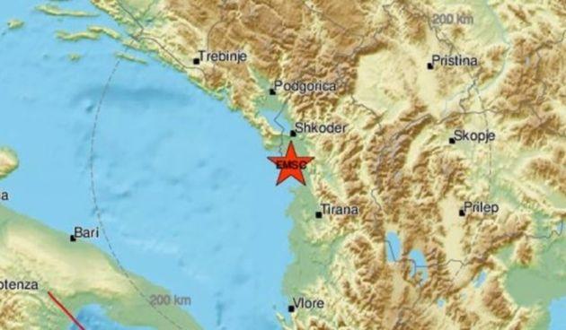 Potres magnitude 4.2 u Albaniji - bio je na dubini od dva kilometra