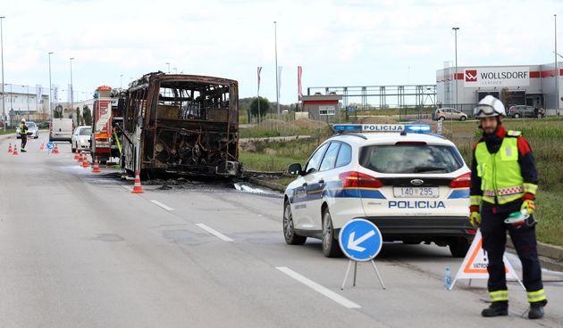 Kraj Varaždina buknuo autobus koji je prevozio radnike: Izgorio je do neprepoznatljivosti