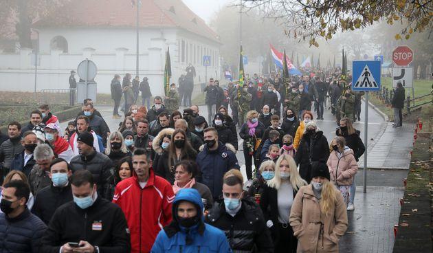 Okupljanje građana na obilježavanju Dana sjećanja na žrtvu Vukovara i Škabrnje