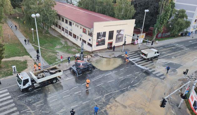 Zagreb, poplava, cijev
