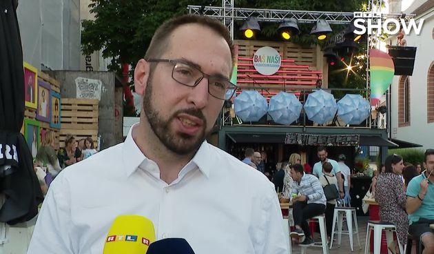 Gradonačelnik Zagreba Tomislav Tomašević na otvorenju Baš Naš festivala (thumbnail)