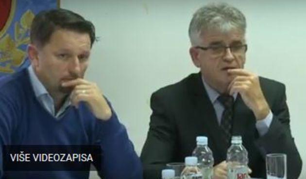 dogradonačenik Ivan Požega i gradonačelnik Jure Katić