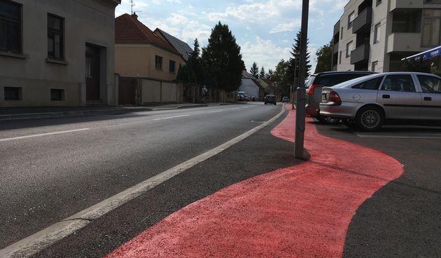 Anina ulica, biciklistička staza,