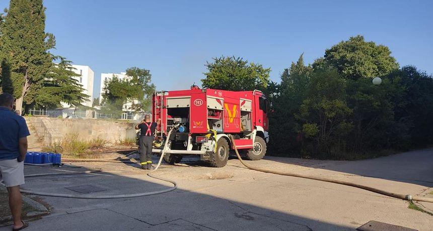 Izbio požar iza Glazbene škole, nema štete