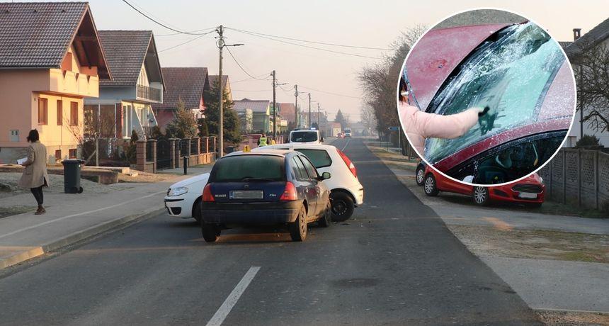 FOTO U prometnoj nesreći u Čehovcu ozlijeđen 55-godišnji vozač osobnog automobila