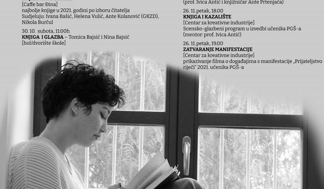 """Prirodoslovno grafička škola manifestacijom """"Prijateljstvo riječi"""" obilježava mjesec knjige"""