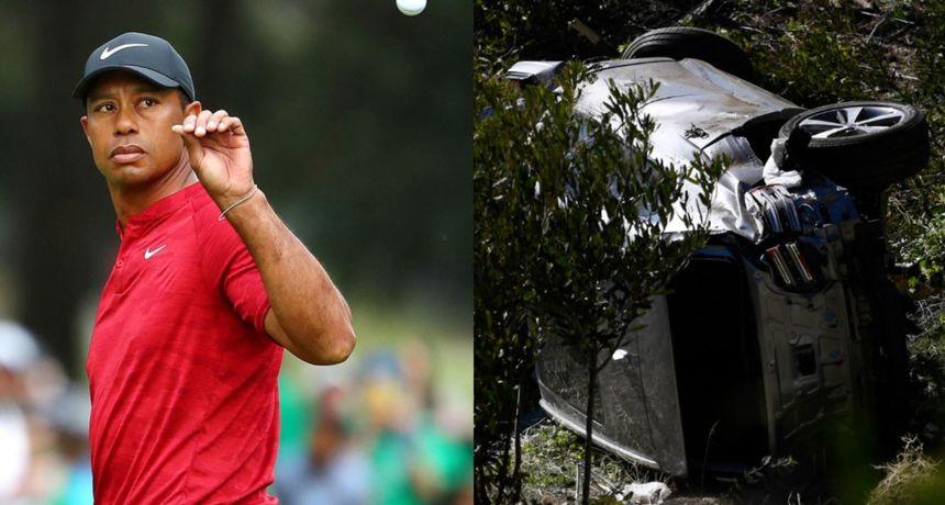 Tiger Woods teško ozlijeđen u prometnoj nesreći: Procurile fotografije uništenog automobila