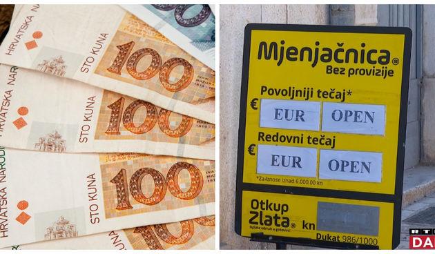 mjenjačnica, euro, kuna