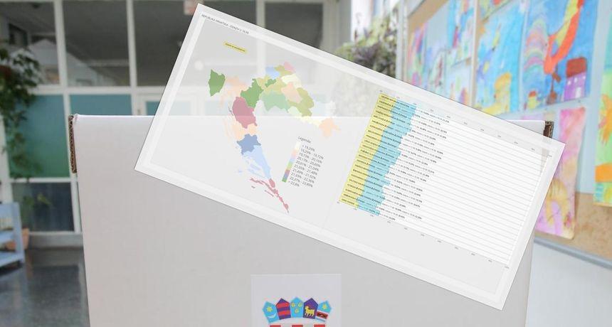DIP objavio odaziv birača do 16.30: Izlaznost 21,31 posto - Pogledajte gdje je bila najviša