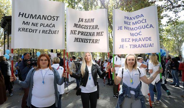 Prosvjed zdravstvenih djelatnika
