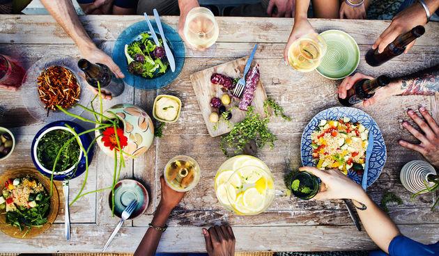 Hrana, stol, prehrana, večera, ručak