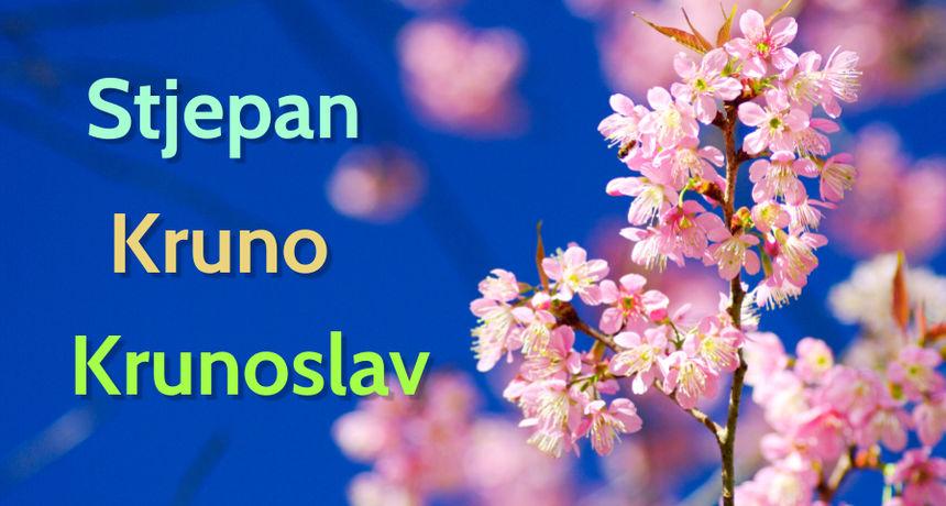 DANAS JE NJIHOV DAN Imendan slave osobe imena Stjepan, Kruno i Krunoslav