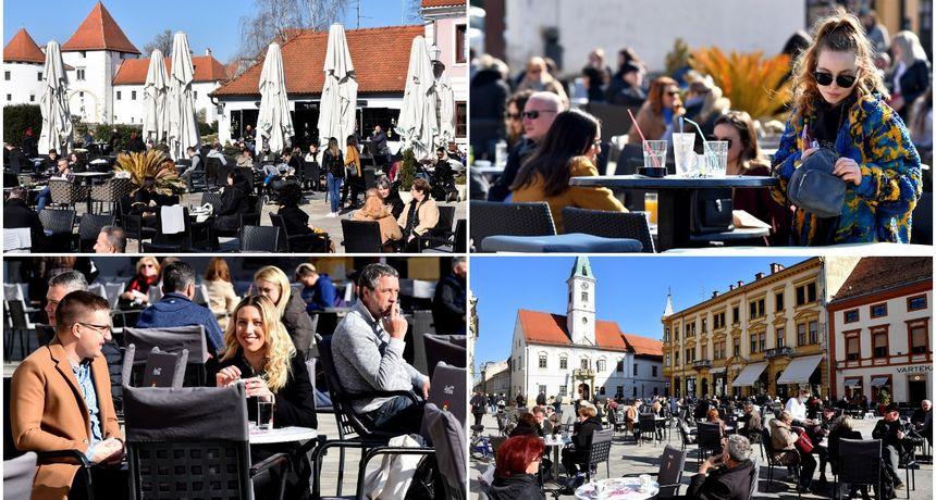 FOTO Varaždinci ispijaju prve kave na terasama nakon tri mjeseca, omiljene lokacije pune