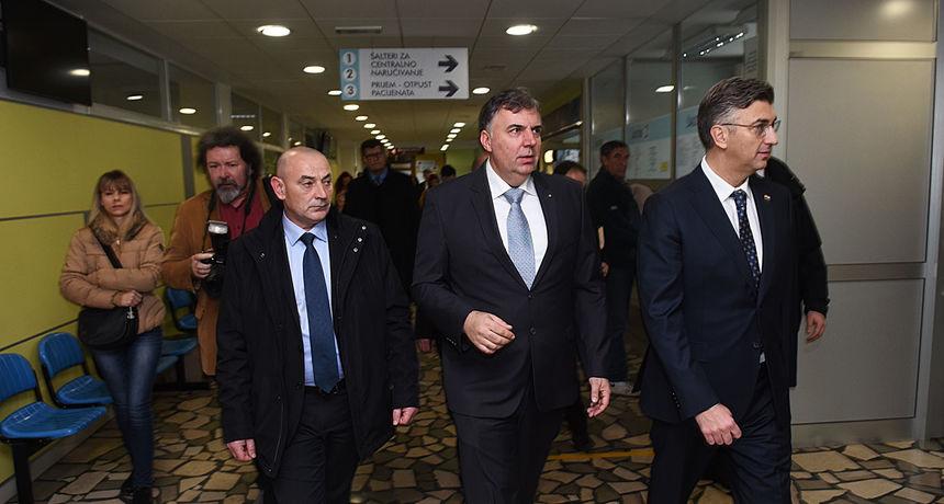 Premijer obišao i karlovačku Opću bolnicu - od Vlade stiže pomoć za opremanje i preseljenje Centra za hemodijalizu
