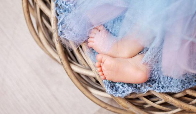 Mala bebina stopala