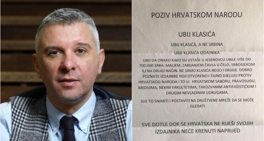Povjesničar Hrvoje Klasić primio stravičnu prijetnju smrću: 'Ubij ga maljem, zabijanjem čavla u čelo, srbosjekom ili na drugi način'