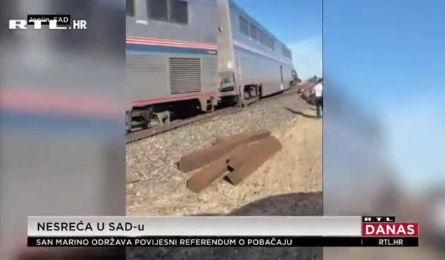 SAD vlak iskočio iz tračnica – samo video (thumbnail)