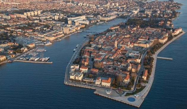 Zadar iz zraka, panorama Zadra