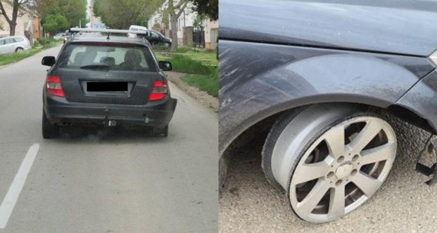 Kakav lik! U selu kraj Vinkovaca pijan vozio bez dvije gume: Kaznili ga s 12 tisuća kuna i oduzimanjem vozačke